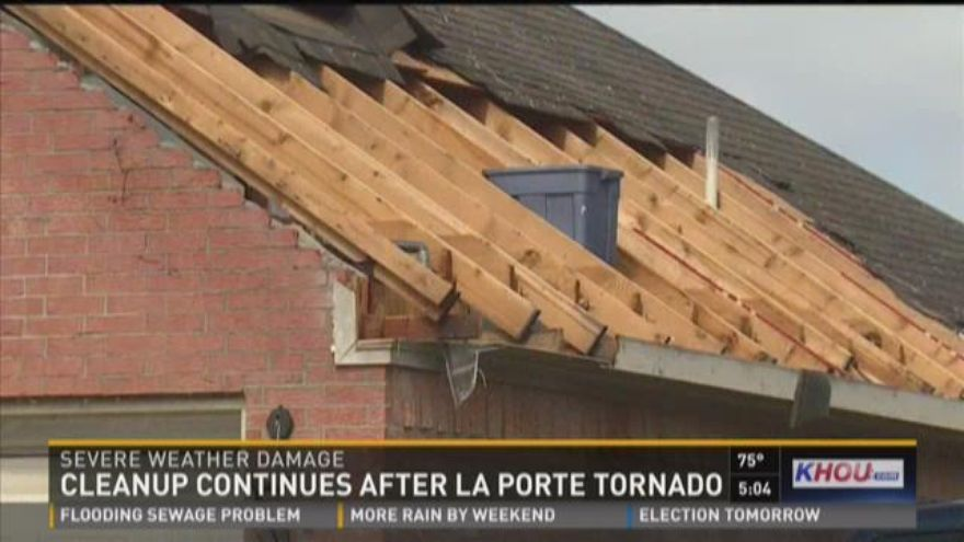 Cleanup continues in la porte after weekend storms tornado for La porte tx news