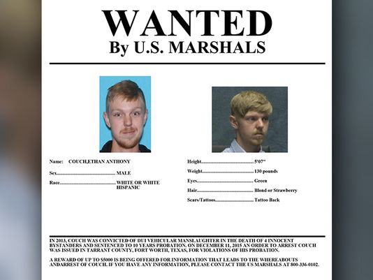 WANTED: 'Affluenza' teen Ethan Couch