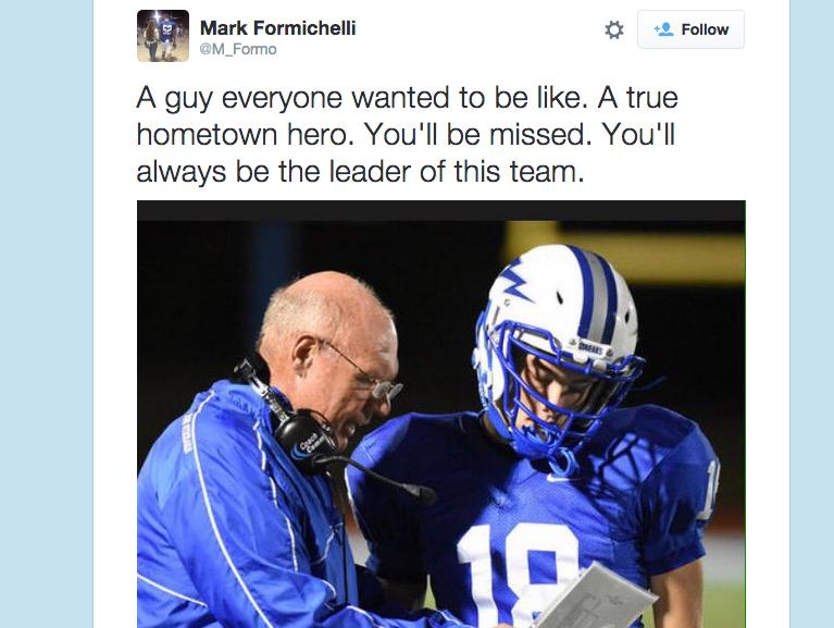 Mark Formichelli tweet