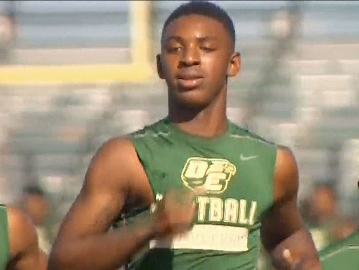DeSoto High School wide receiver Dee Anderson isn't being allowed to play.