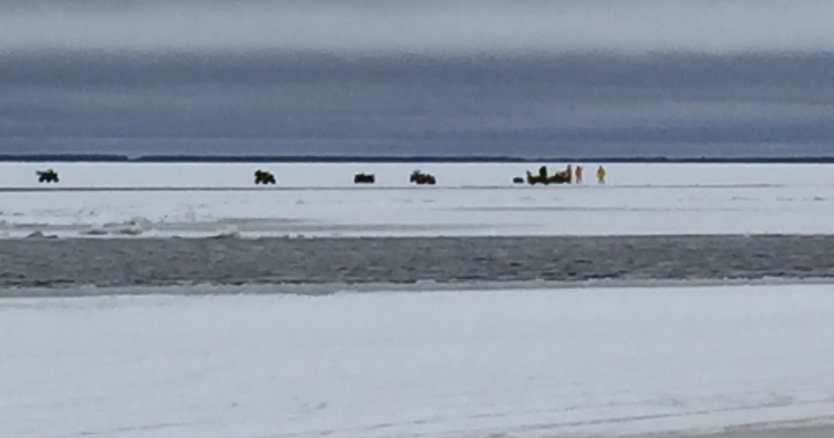 dozens ice fishing on upper red lake rescued