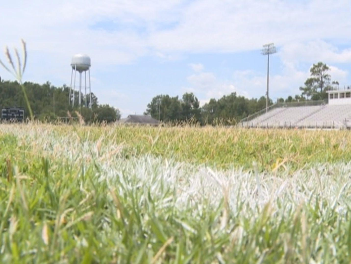 The football field at Allendale-Fairfax High.