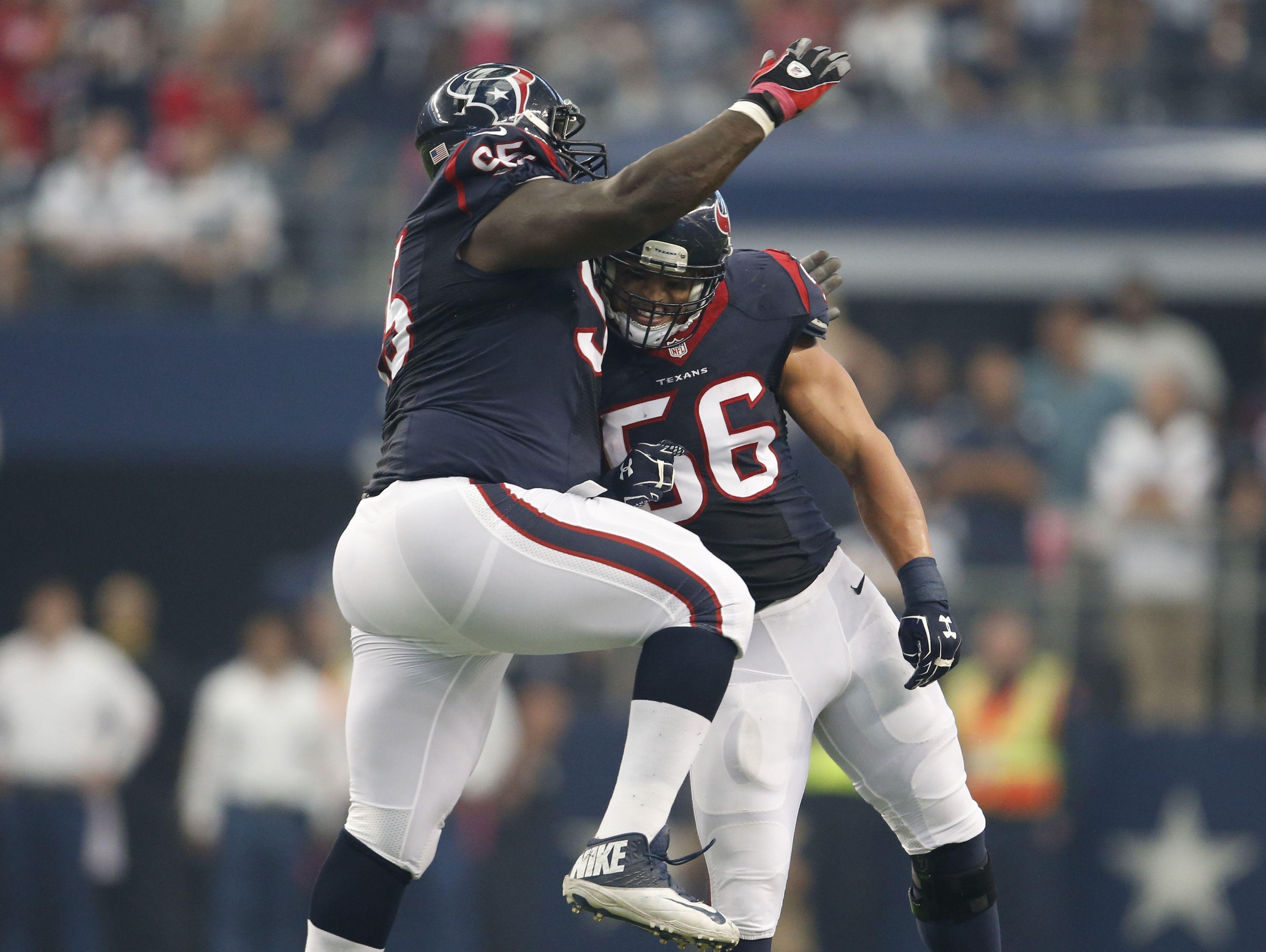 Oct 5, 2014; Arlington, TX, USA; Houston Texans linebacker
