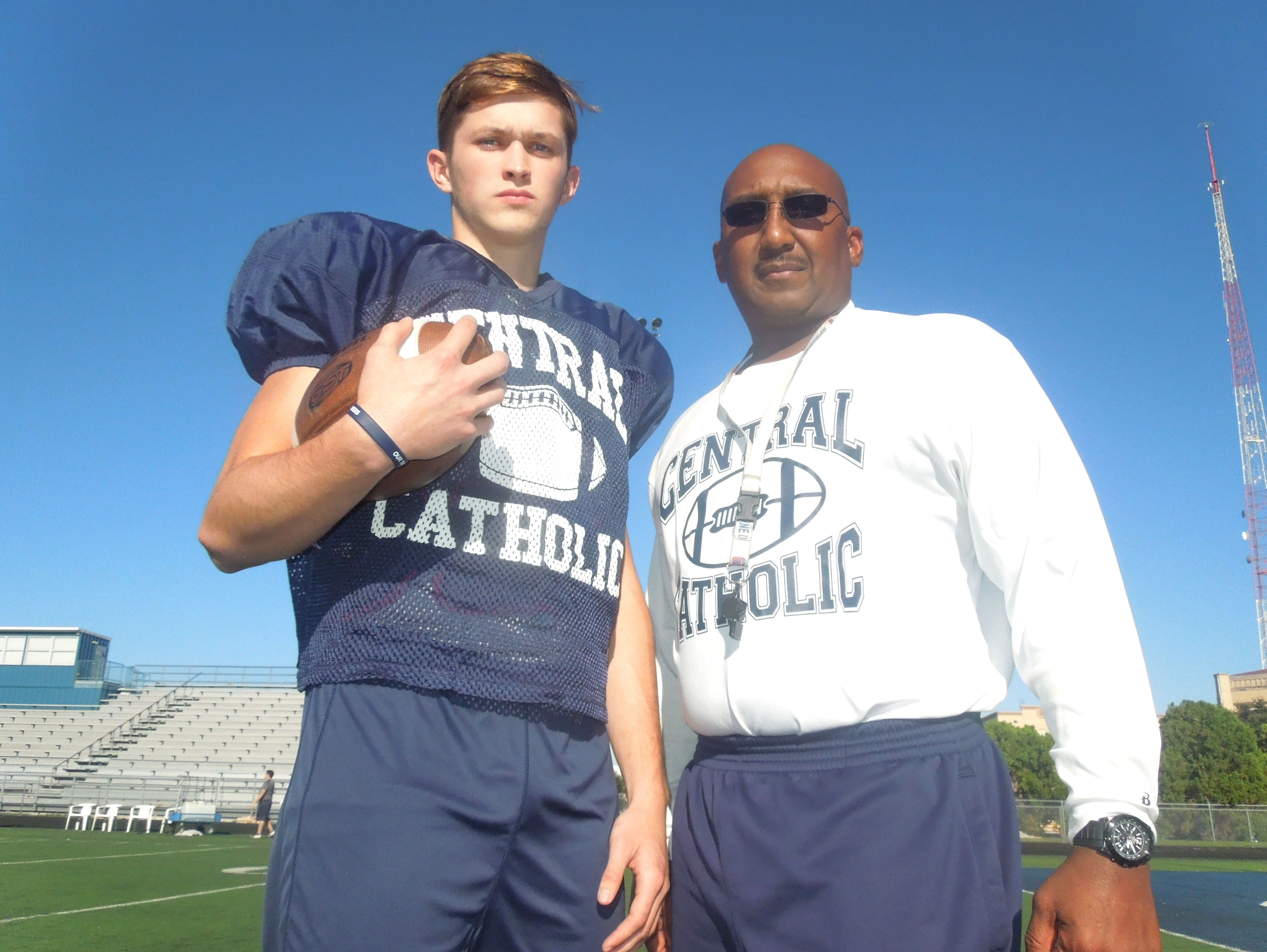 Central Catholic head coach L.D. Green says Jimmy Morton earned the respect of his new teammates quickly after transferring from Harlingen South this summer.