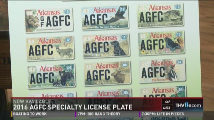 2016 agfc specialty license plates now available for Arkansas fishing license
