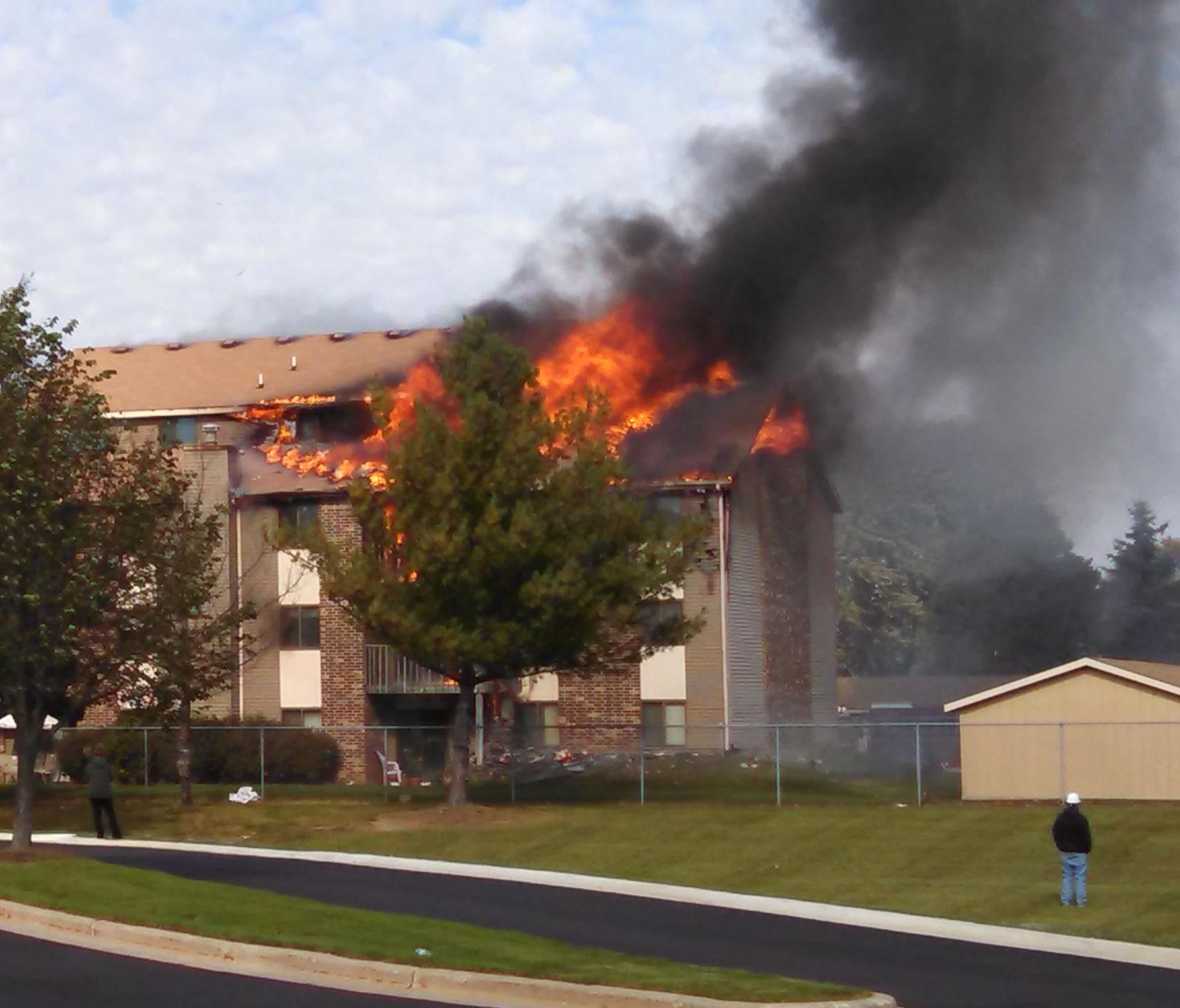 No Injuries In Grandville Apartment Fire