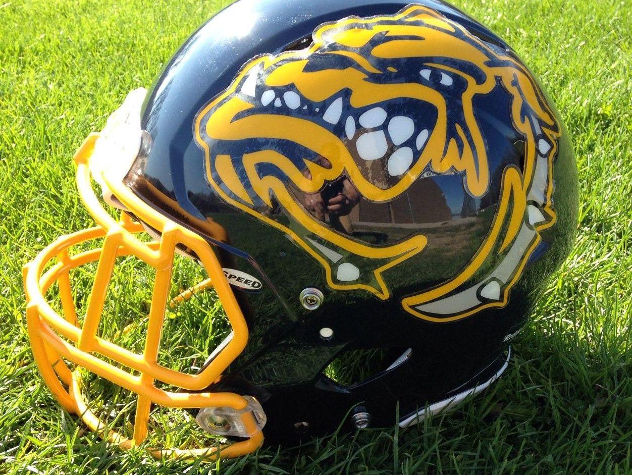 Olmsted Falls High School football helmet
