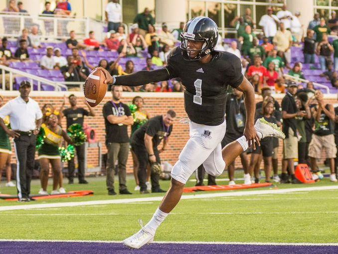 Steele junior quarterback Xavier Martin, scoring in the Knights' 35-33 win over DeSoto earlier this season, already has committed to Texas Tech.