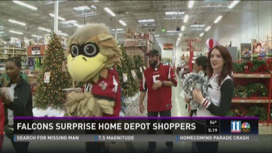 Falcons surprise Home Depot shoppers