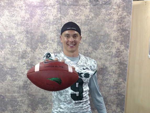Auburn Mountainview quarterback Gresch Jensen took a visit to Portland State June 23.