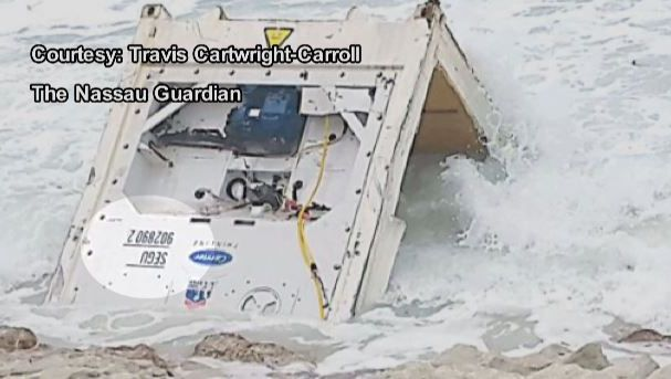 First Coast News has confirmed  pieces of a container that washed up on a beach in the Bahamas is from the El Faro.