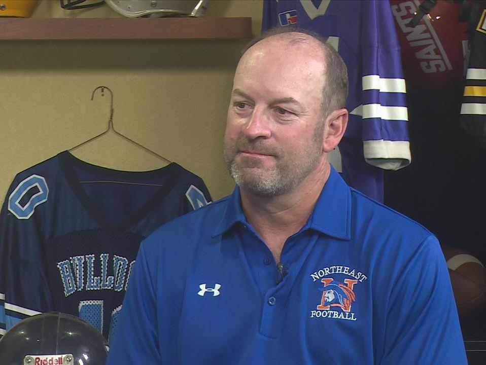 Richland Northeast head football coach Jay Frye.