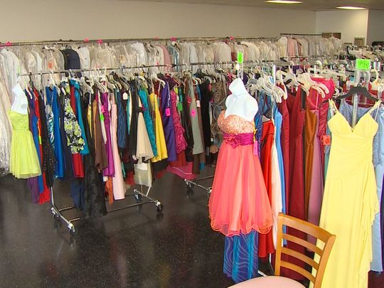Thousands of formal dresses are available to students