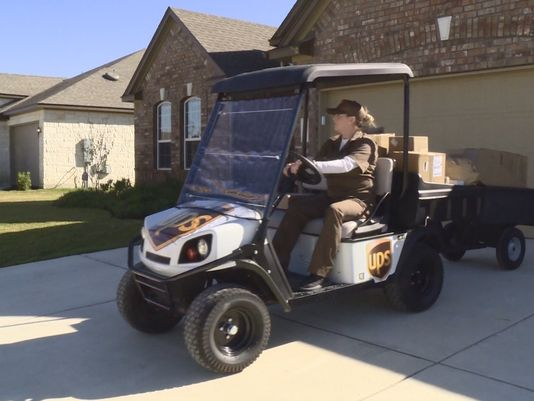 Ups branded golf cart delivering packages here page 2 ar15 com