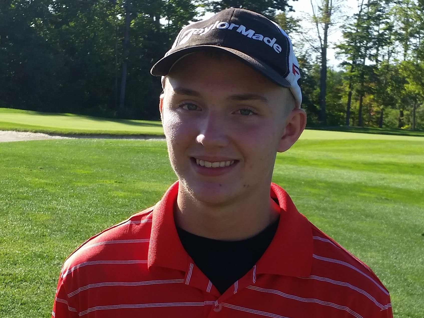 Geneva High School senior golfer Eric Doerge at the Division I sectional tournament at Quail Hollow on October 5