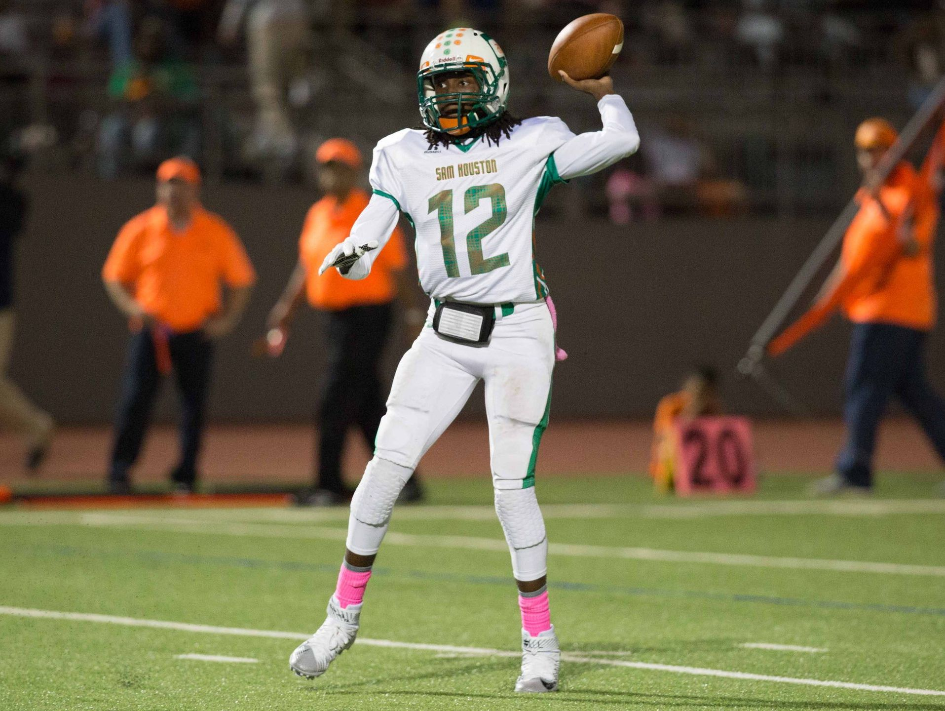 Sam Houston senior quarterback Raymonte Prime has helped move the Hurricanes to within one win of their first 10-0 regular season since 1989.