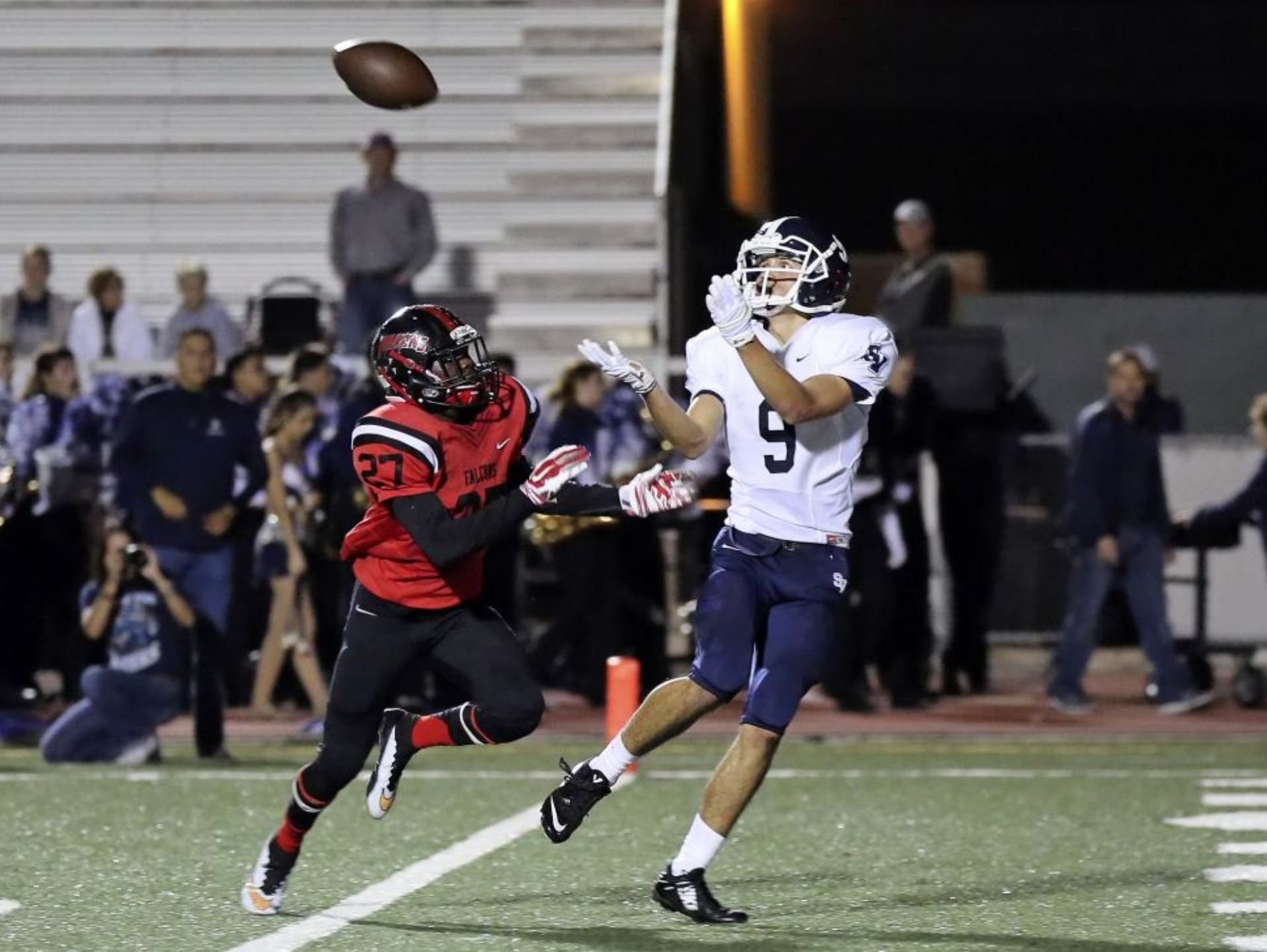 Smithson Valley senior wide receiver Derek Housler had seven catches for 166 yarrds and one TD in the Rangers' 35-0 playoff win over Stevens last week.