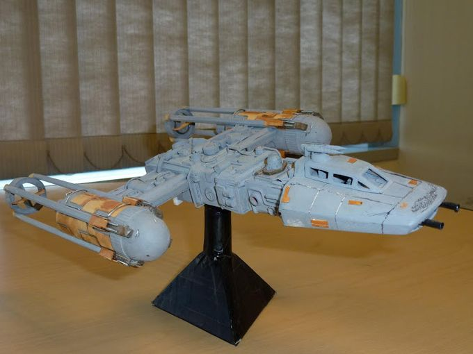office supplies used to create star wars models