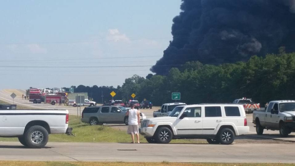 The fire followed an explosion at the plant on Loop 336 near Hwy 105, according to Conroe police.