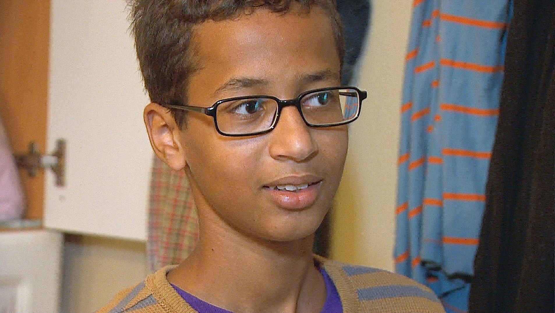 Ahmed Mohamed, 14, was detained after police said a suspicious device was found inside his pencil box at MacArthur High School.