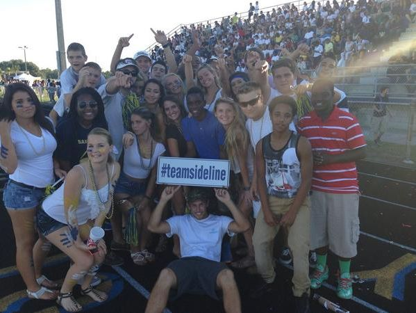 Students from Sandalwood High School pose for a photo during a First Coast News game of the week in 2014.