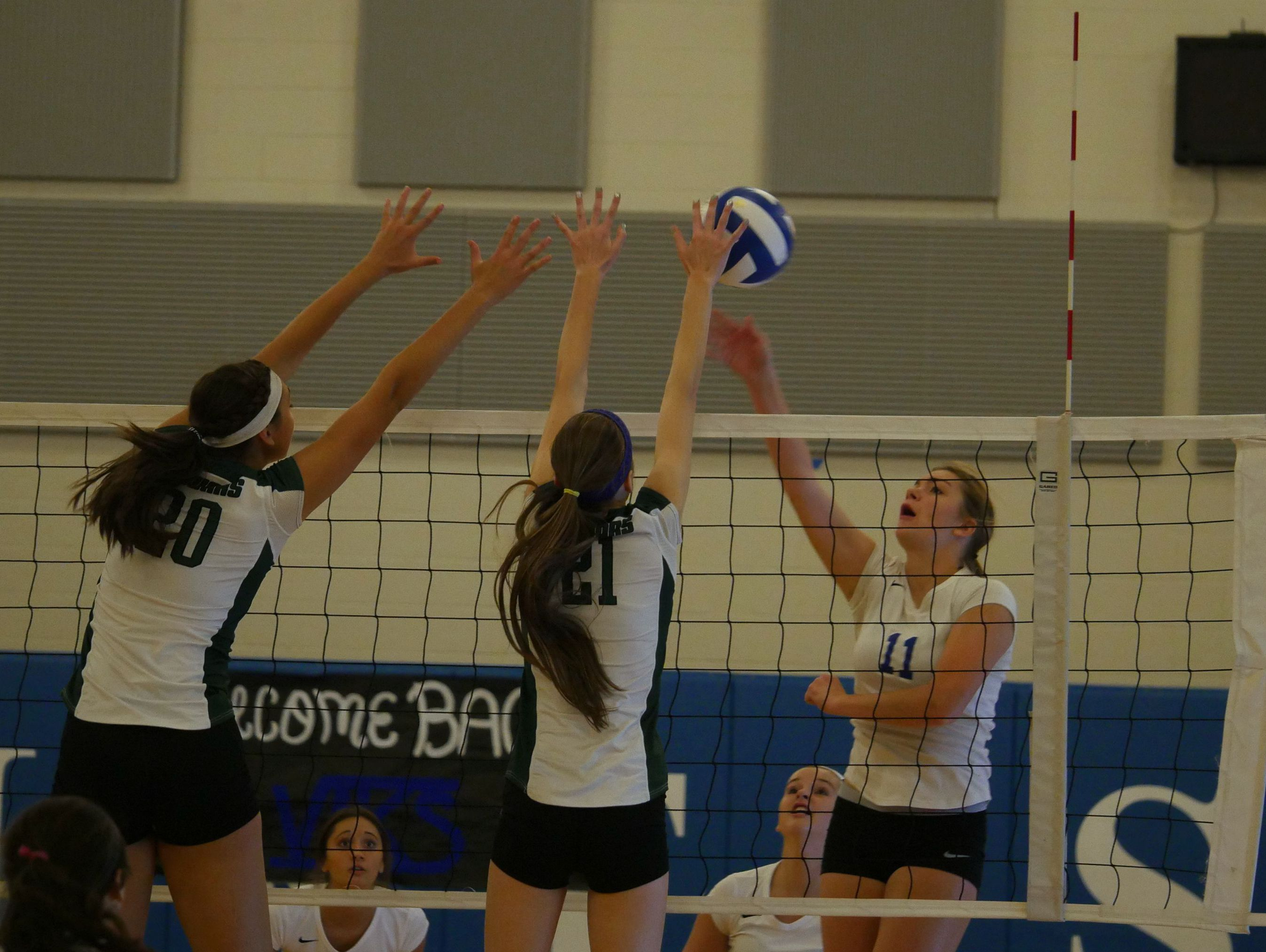 Curtis outside hitter Elly McEachern lays down a hit during the Sept. 15 Curtis vs. Emerald Ridge high school volleyball game.