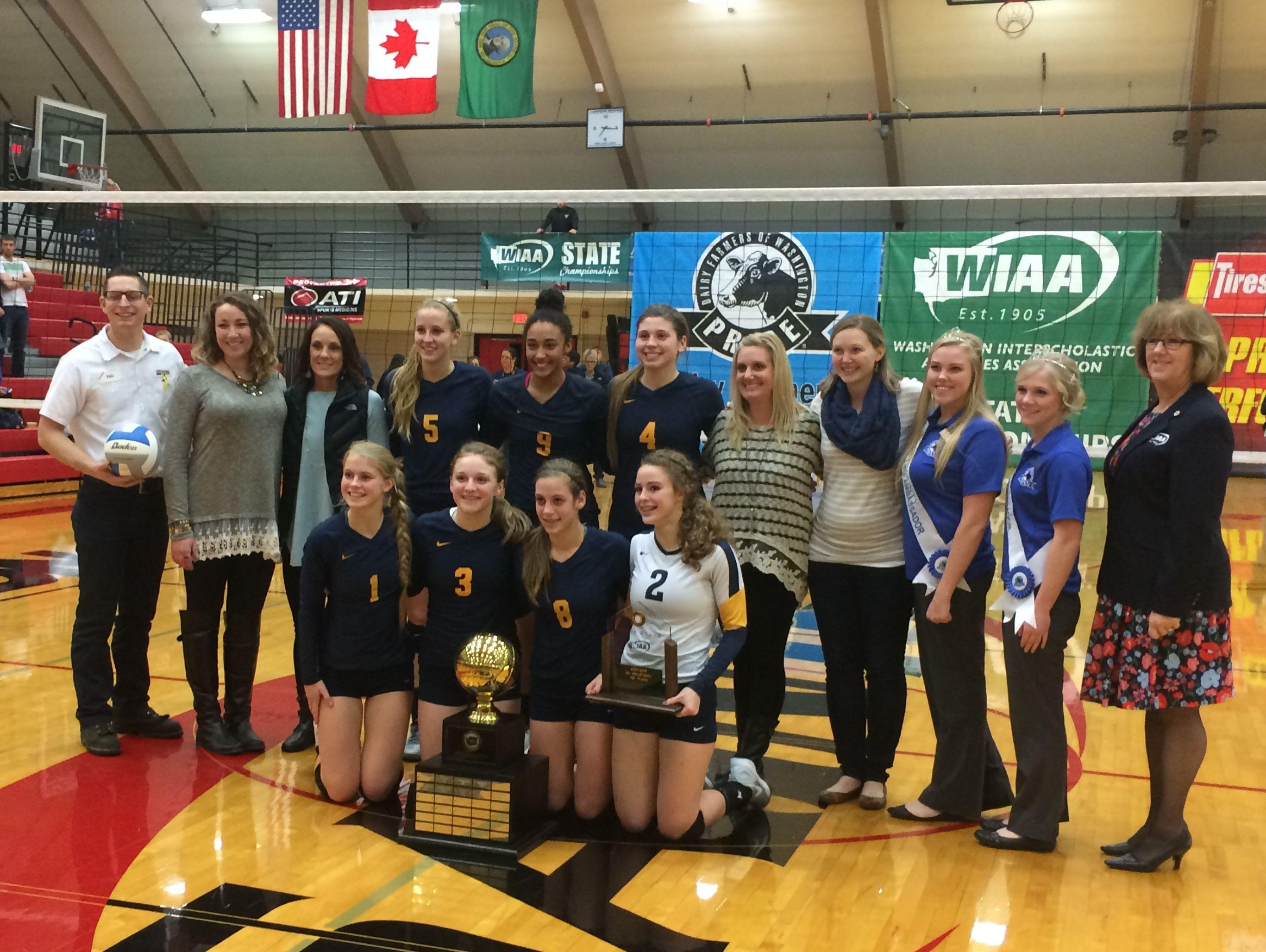 Burlington-Edison volleyball won the 2A state title.