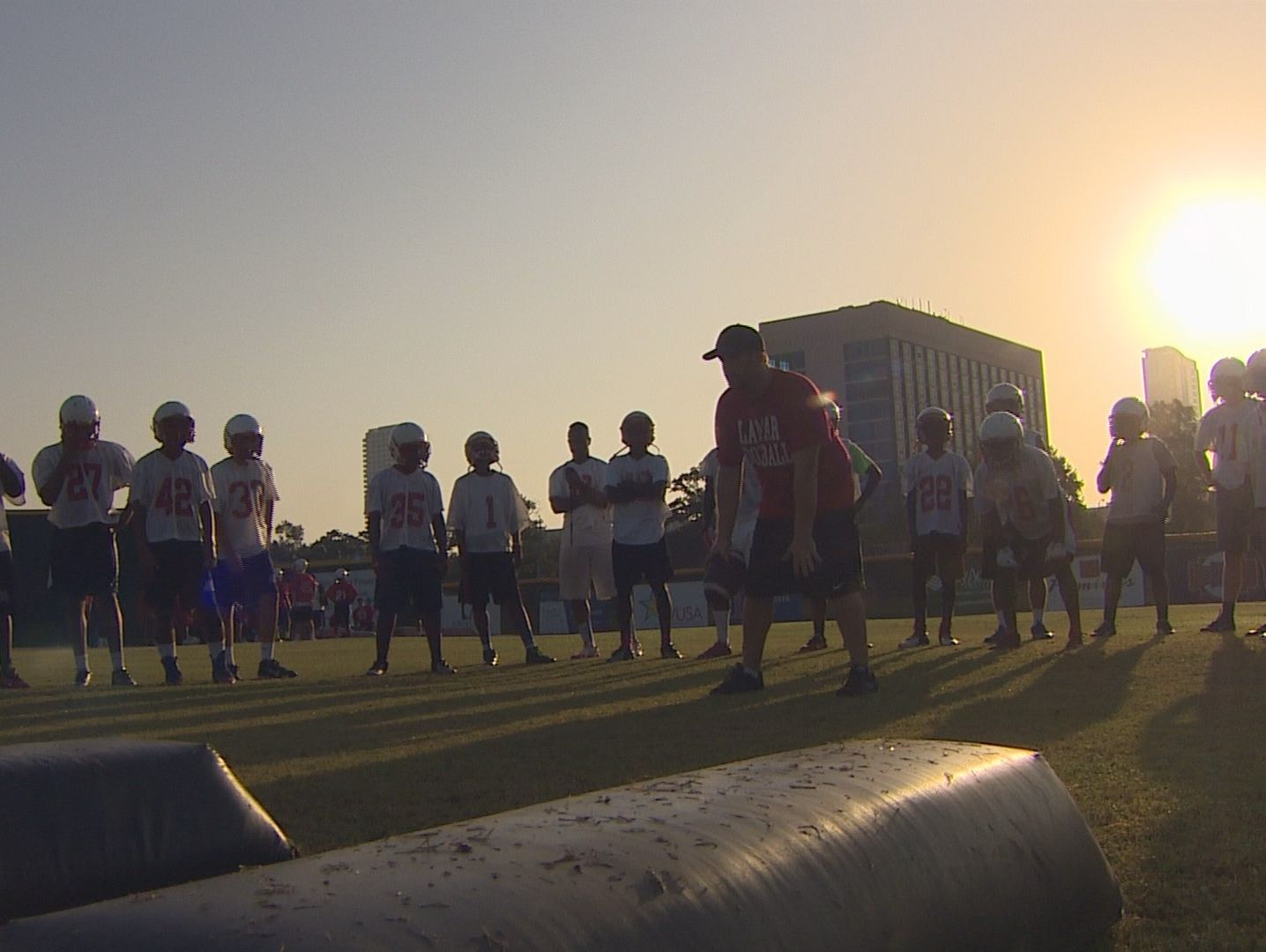 The Lamar High football team and others across southeast Texas have just started two a days this week, practicing twice during the same day preparing for the upcoming season.