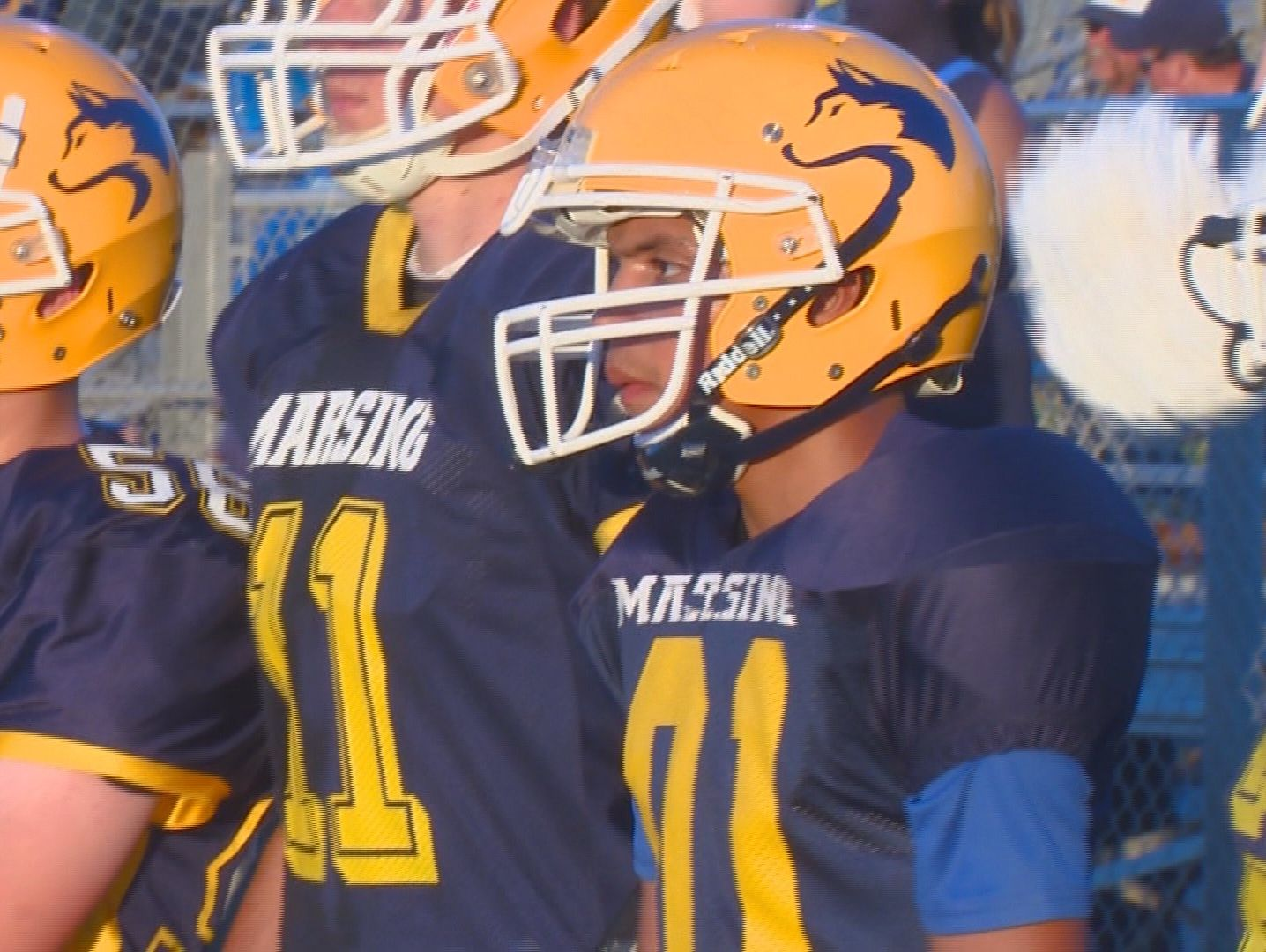 The Marsing High School football team honored inspirational leader Oseas Arriaga at the team's homecoming against Melba Friday night. Oseas was made honorary team captain and got to score a touchdown.