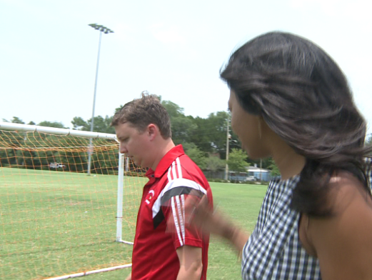 Girl's Head Soccer Coach at Bishop Snyder H.S. speaks about safety on the field