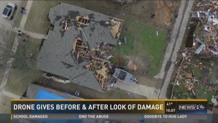 Drone captures powerful images before, after tornado