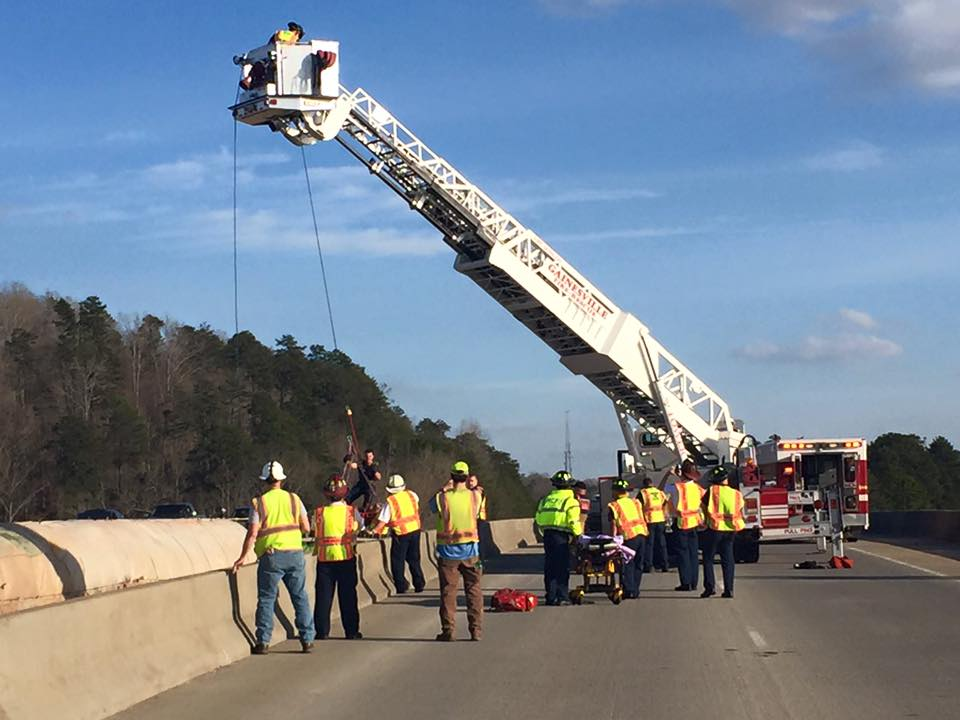 Construction Worker Falls From Bridge In Gainesville